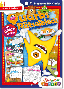 Megastar Junior Quarks Rätselblock