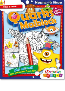 Megastar Junior Quarks Malblock