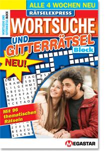 Megastar Rätselexpress Wortsuche & Gitterrätsel Block