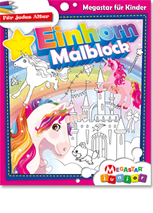 Megastar Junior Einhorn Malblock